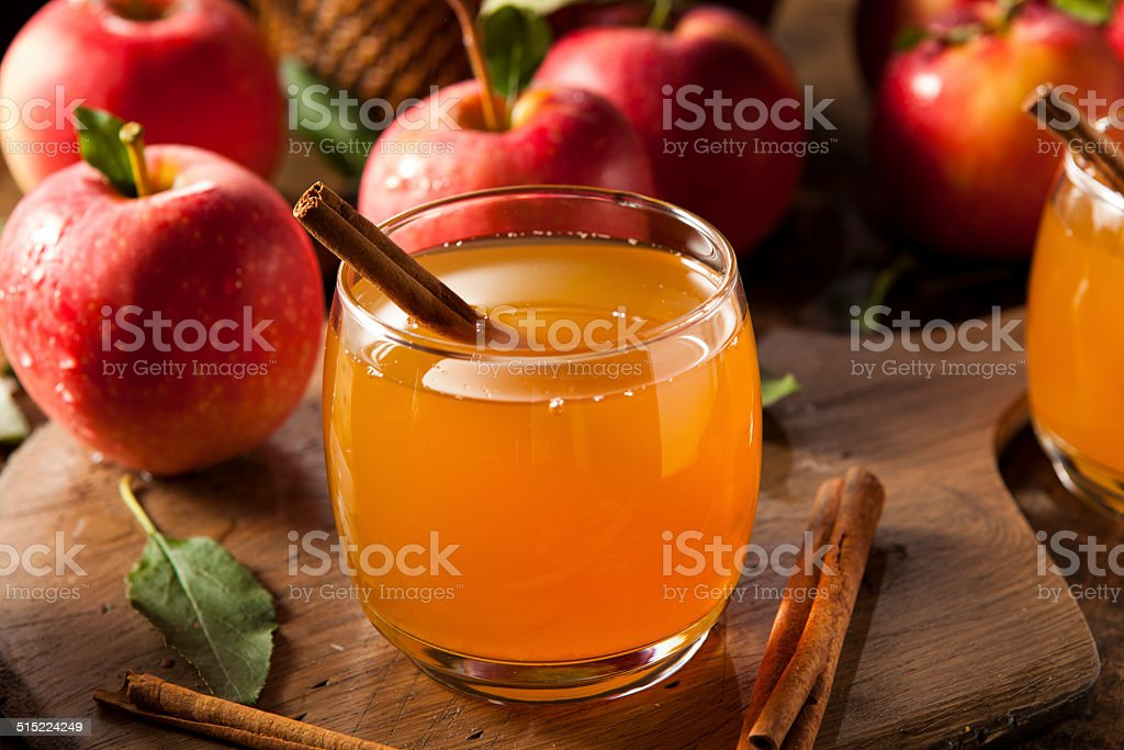 Organic Apple Cider with Cinnamon stock photo