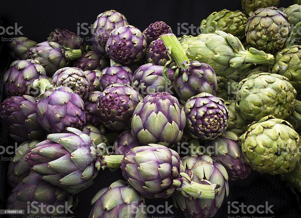 Organic Artichokes royalty-free stock photo