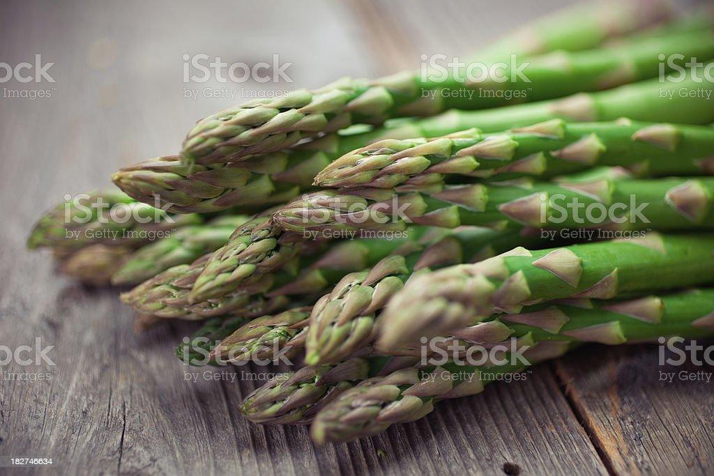 Organic Asparagus stock photo