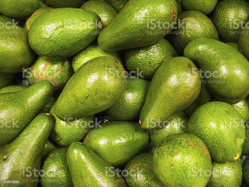 Organic avocados royalty-free stock photo