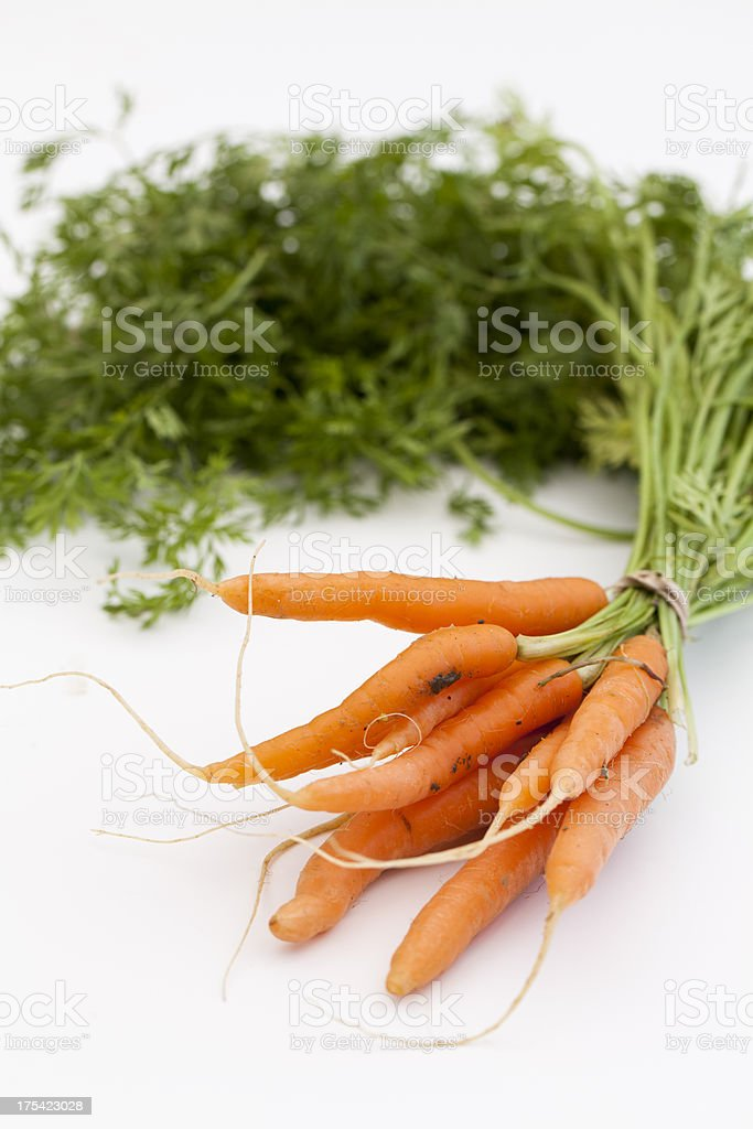 organic baby carrots royalty-free stock photo
