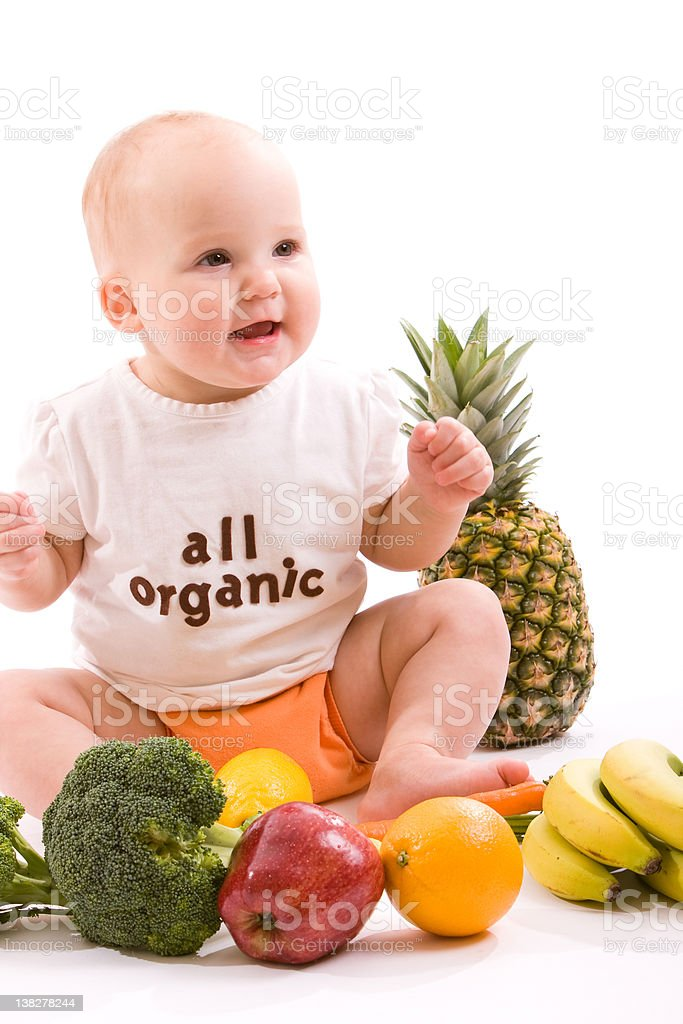 Organic Baby royalty-free stock photo