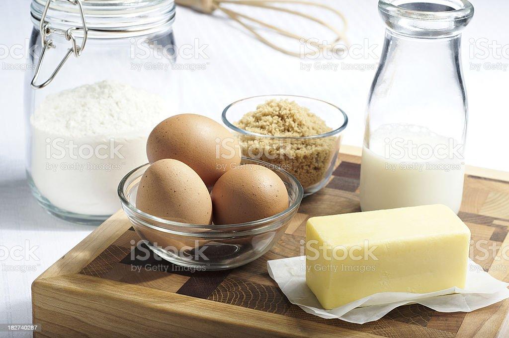 Organic Baking Ingredients royalty-free stock photo