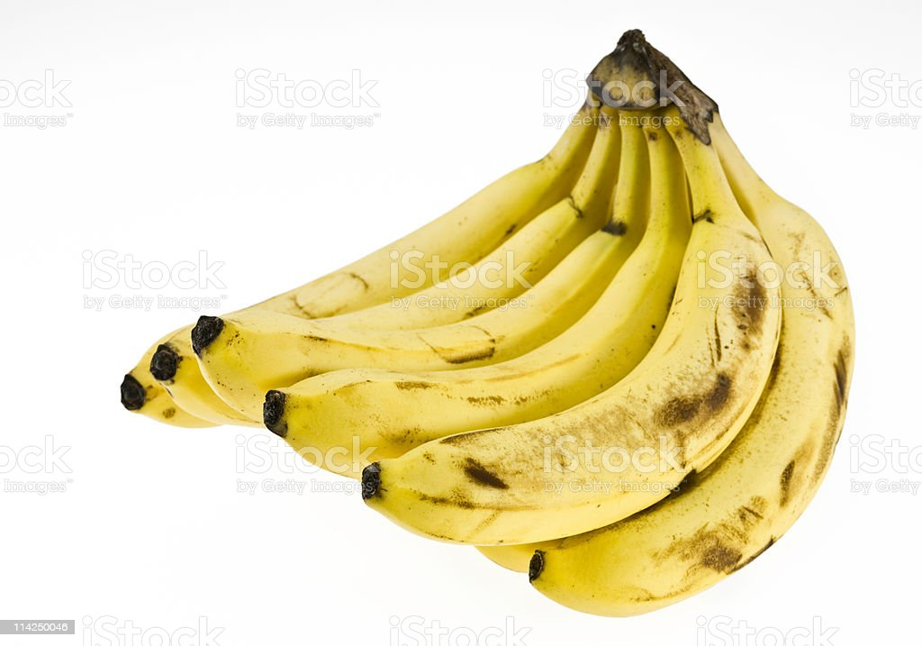 Organic Bananas royalty-free stock photo