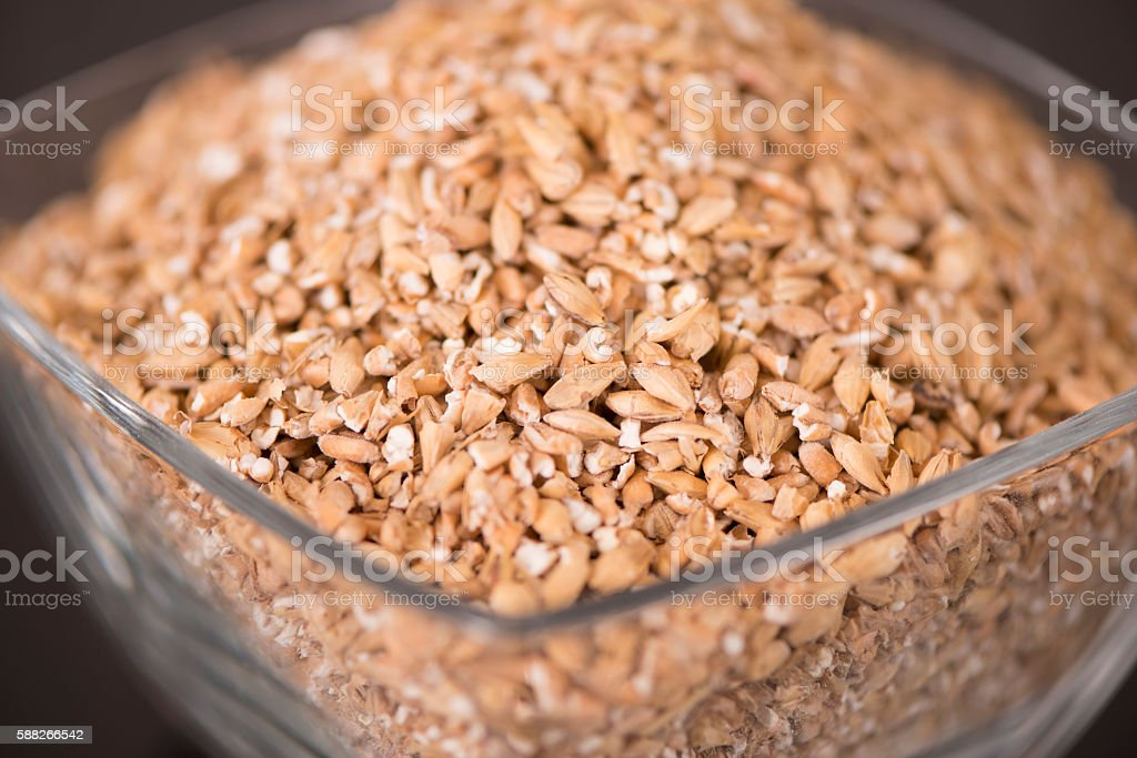 Organic Barley Seeds. stock photo