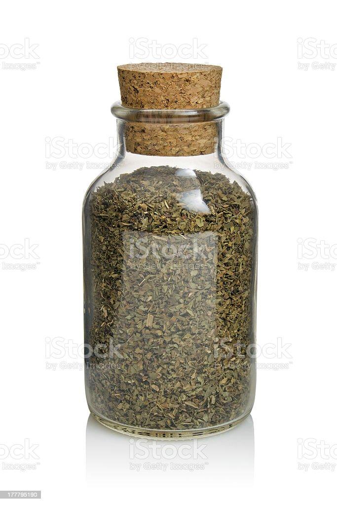 Organic Basil stock photo