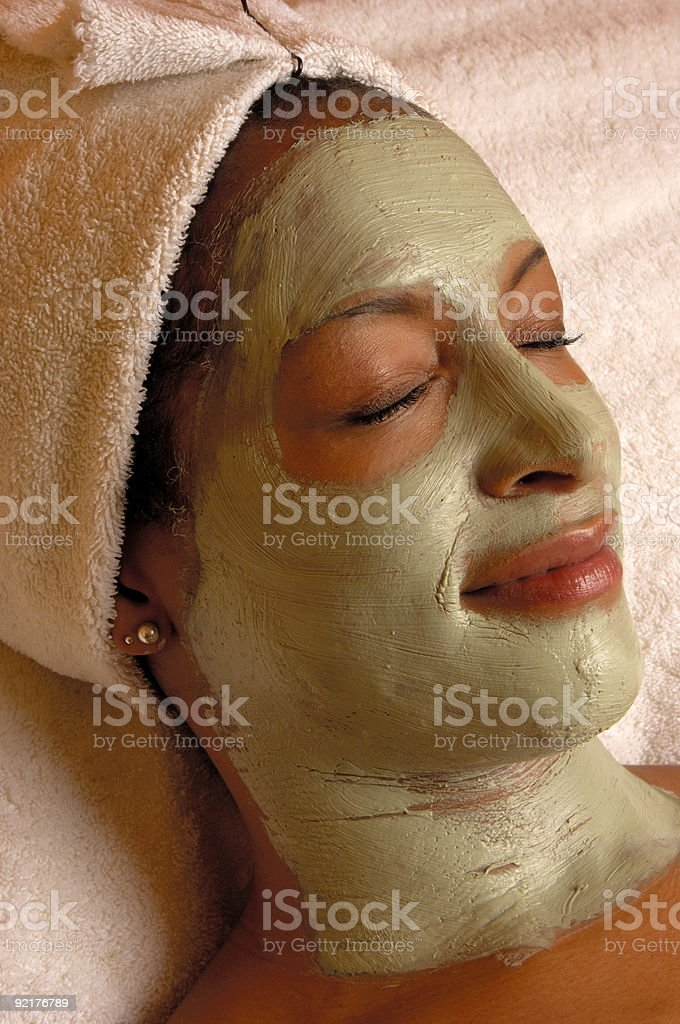 Organic Beauty Aroma Facial Masque royalty-free stock photo