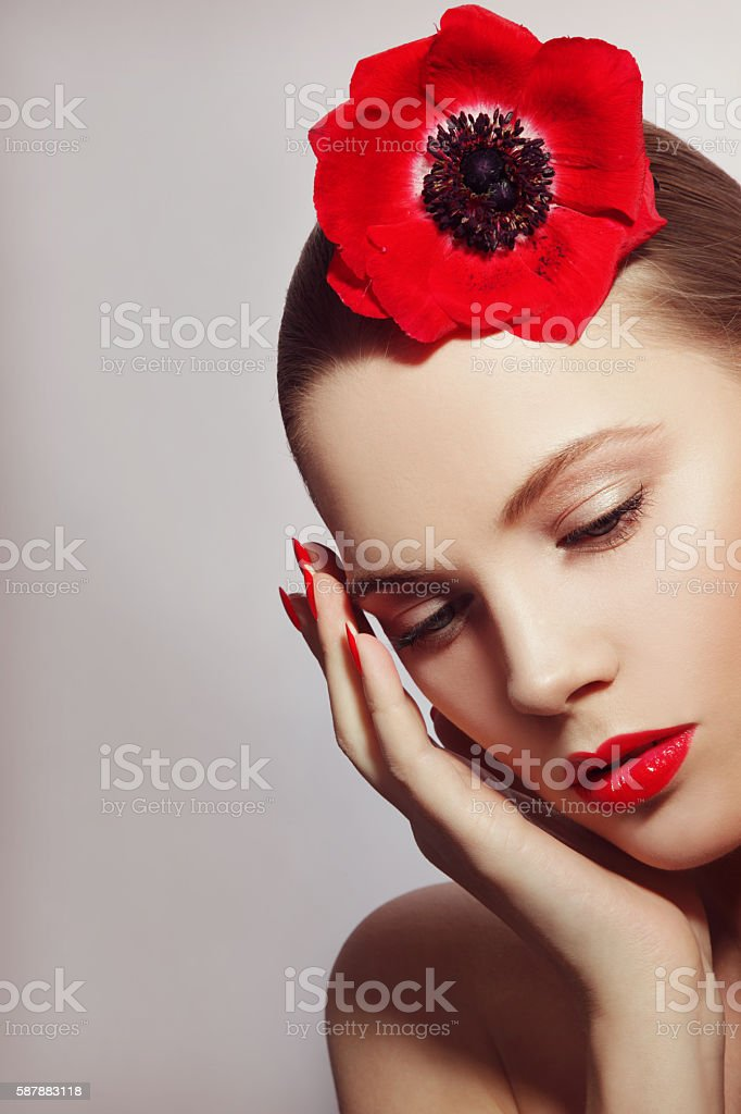Organic beauty stock photo