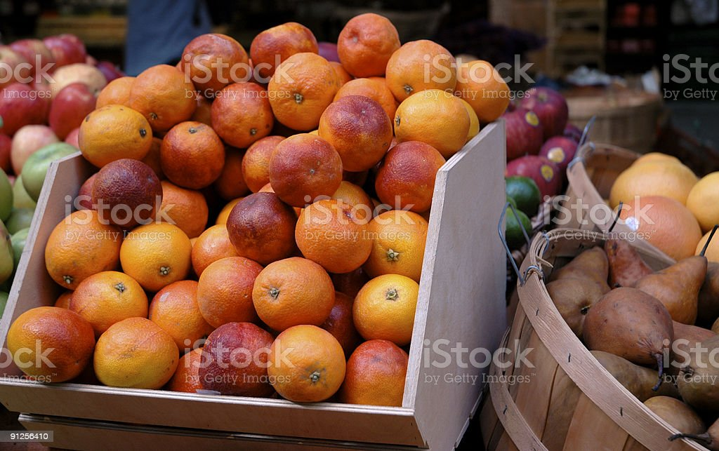 Organic Blood Oranges royalty-free stock photo