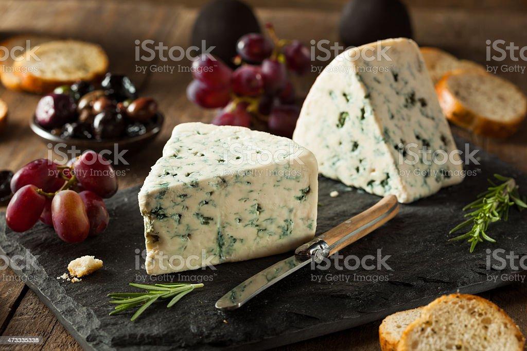 Organic Blue Cheese Wedge stock photo
