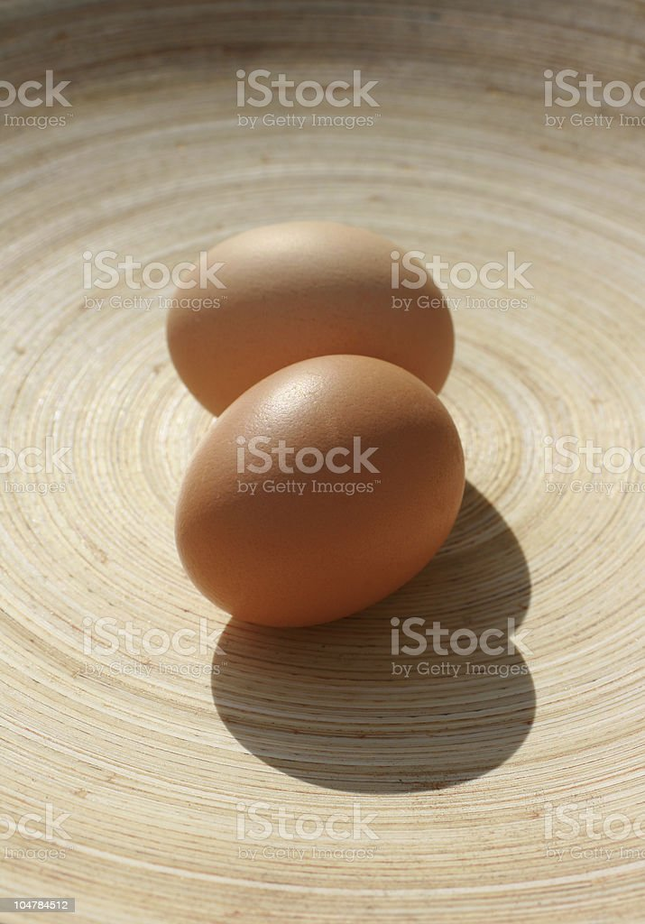 Organic Brown Eggs royalty-free stock photo