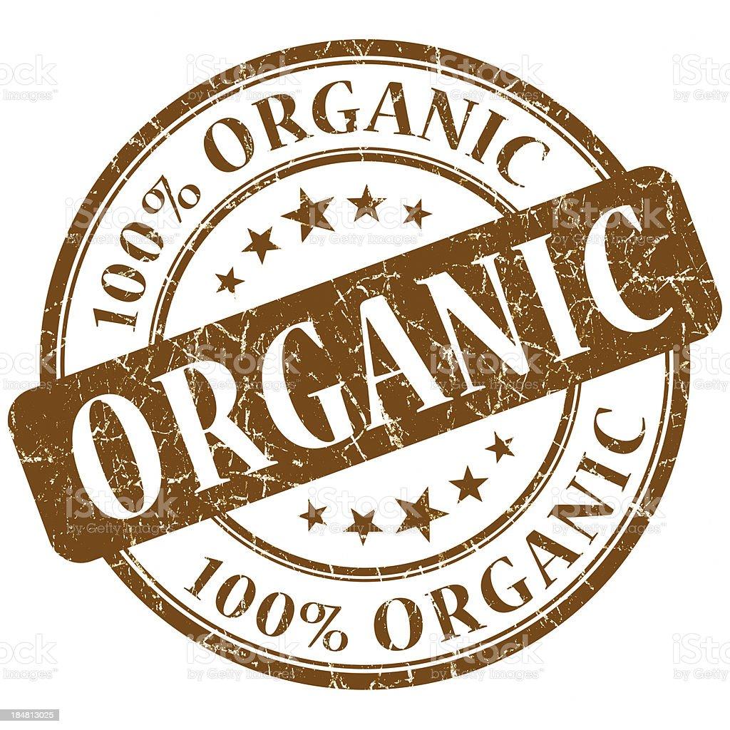 organic brown stamp stock photo