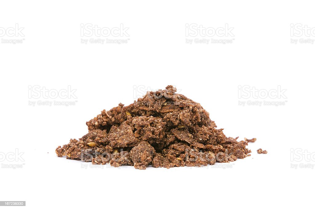 Organic Cacao Crunch Cereal stock photo