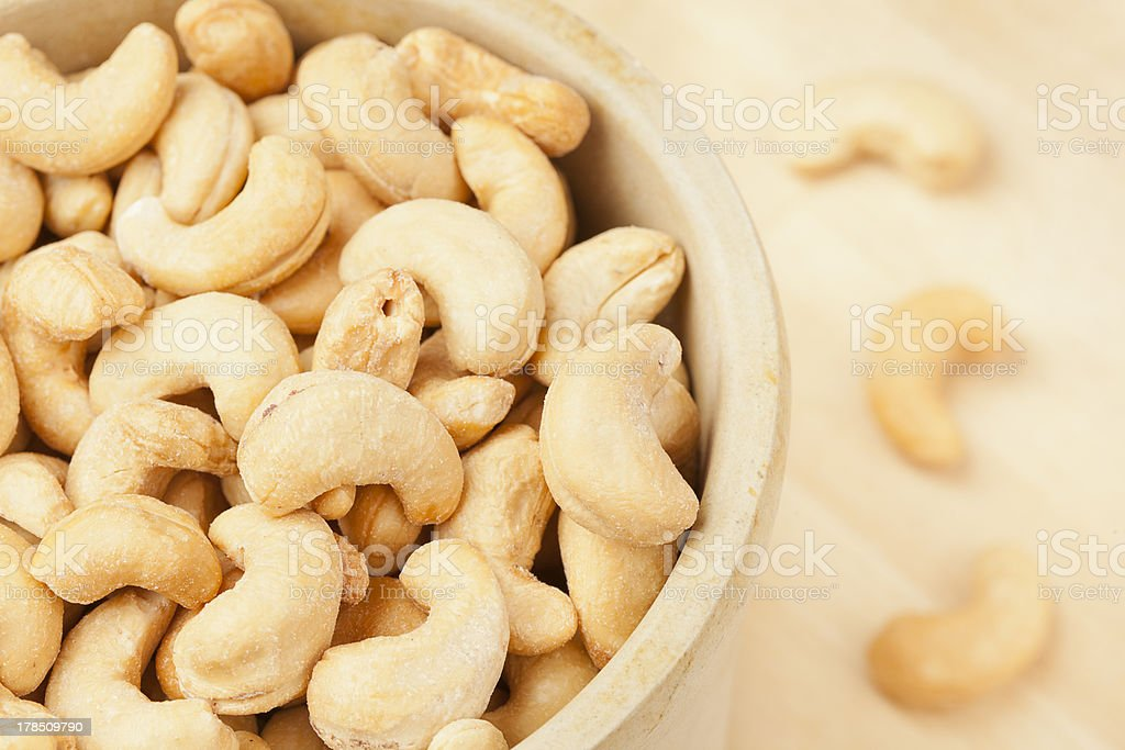 Organic Cashew with no shell stock photo