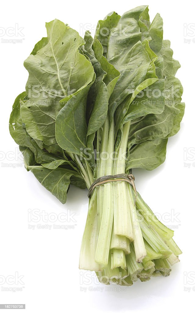 Organic Chard ( Spinach Beet ) stock photo