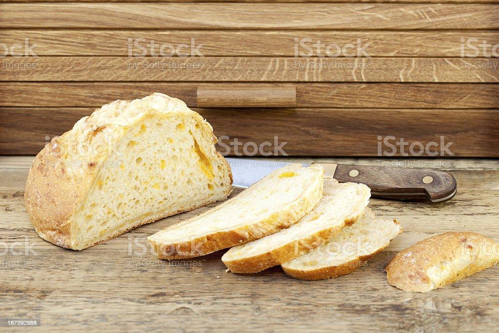 Organic Cheese Bread stock photo