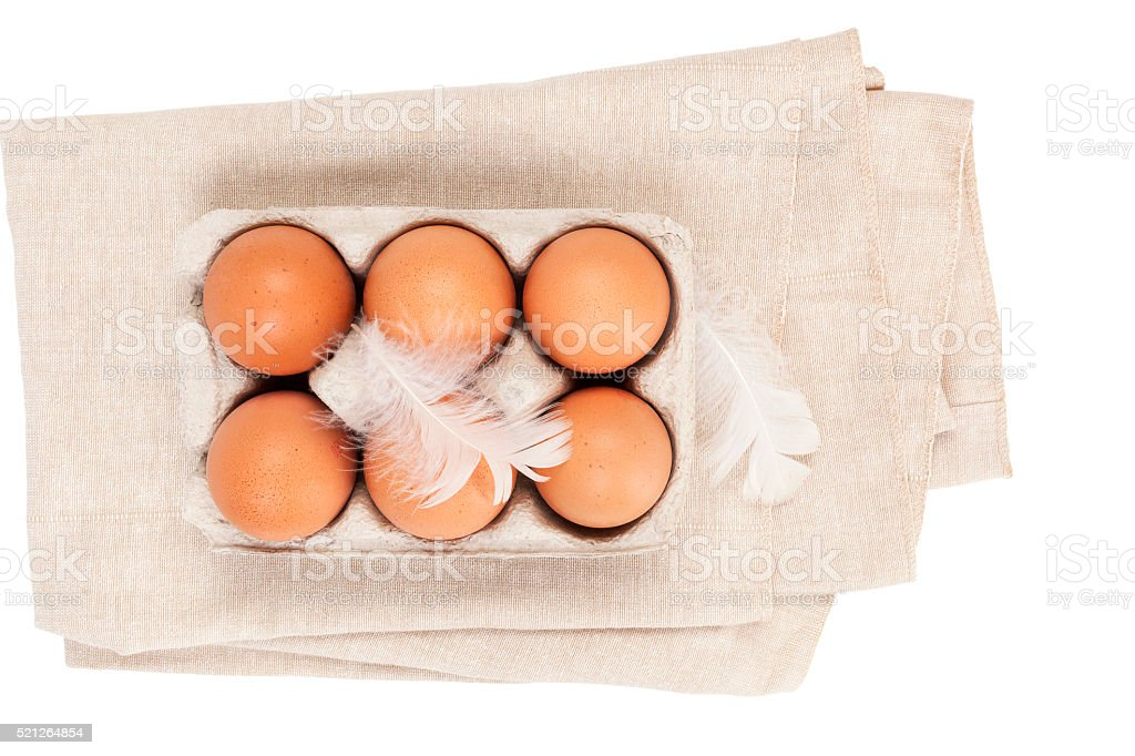 Organic chicken eggs. stock photo