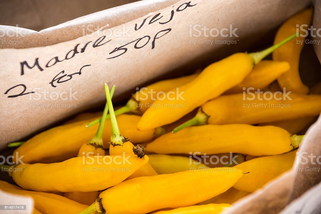 Organic Chilli for Sale stock photo