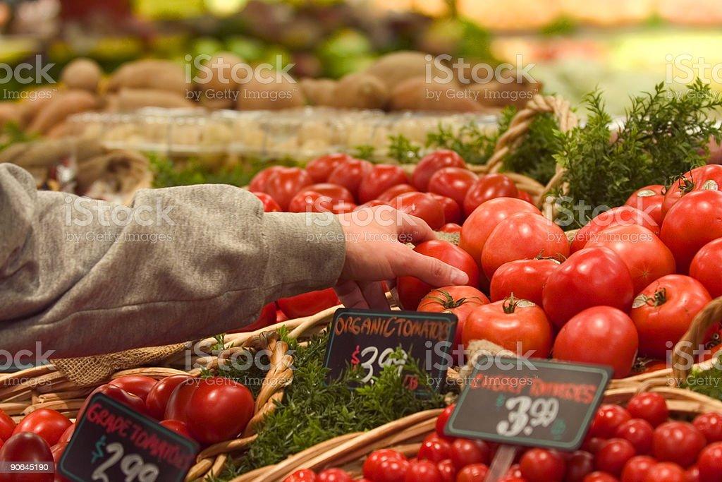 Organic choice stock photo