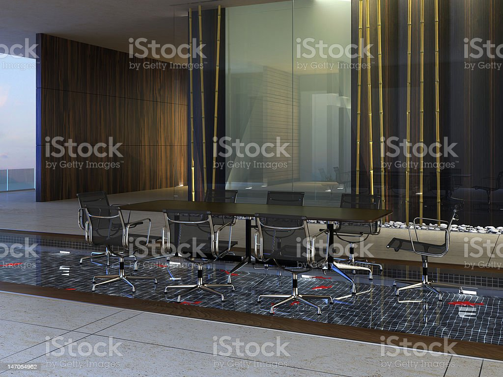 Organic Conference Room stock photo