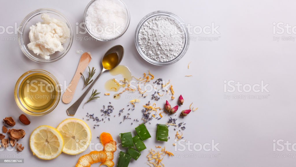 Organic Cosmetic Ingredients stock photo