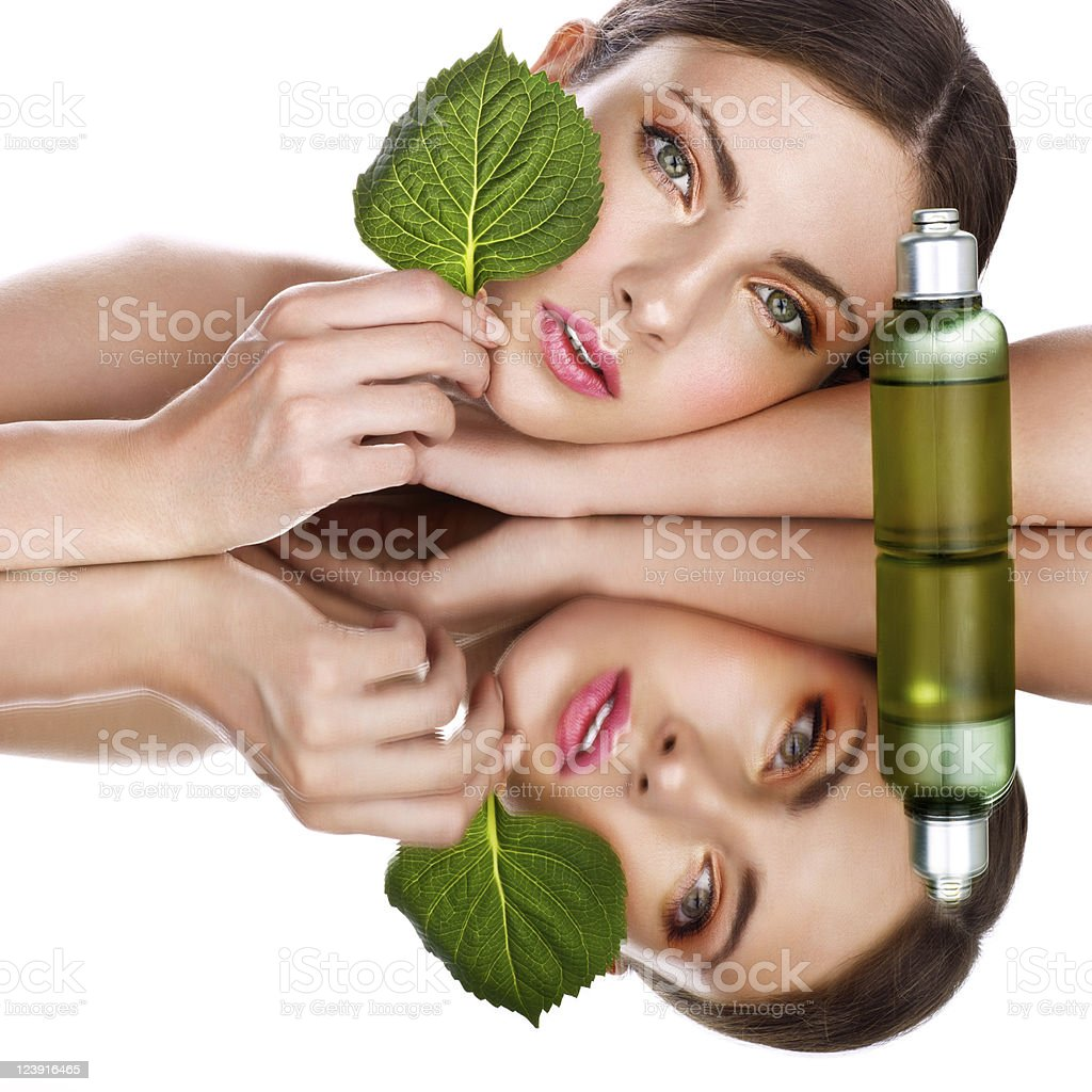 organic cosmetic stock photo