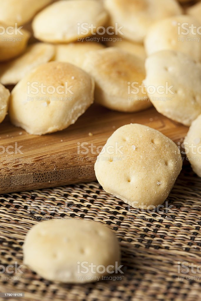 Organic Crunchy Oyster Crackers royalty-free stock photo