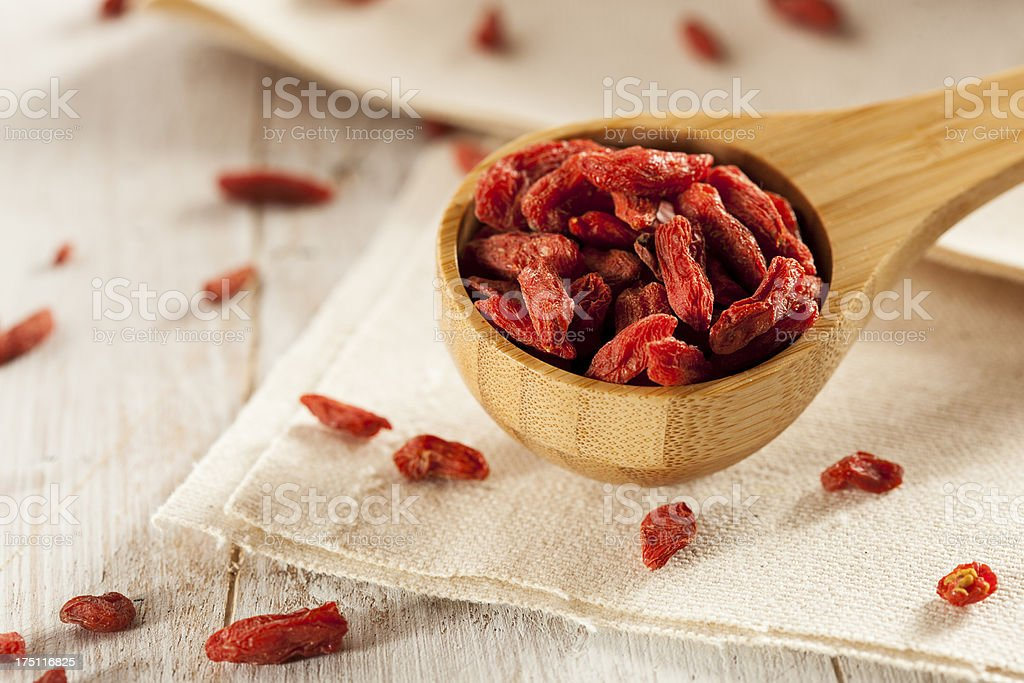 Organic Dried Goji Berries royalty-free stock photo