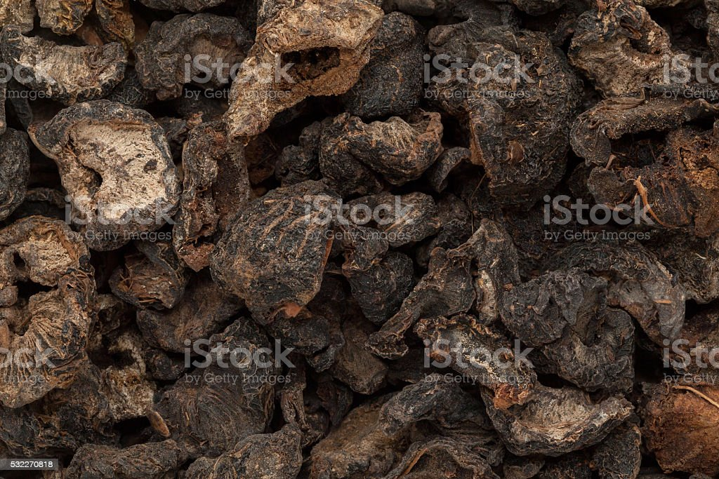 Organic dried Indian gooseberry (Phyllanthus emblica). stock photo