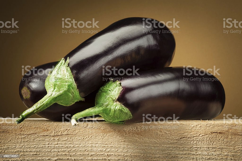 Organic eggplant (aubergine) stock photo