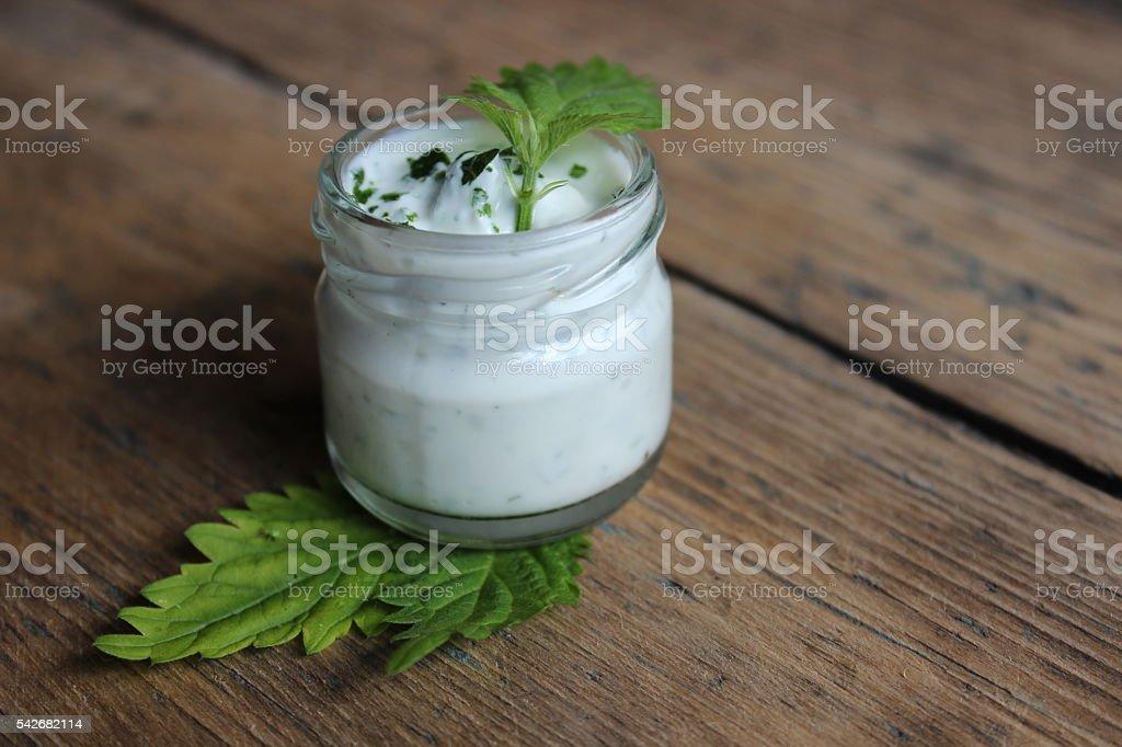 Organic face cream stock photo