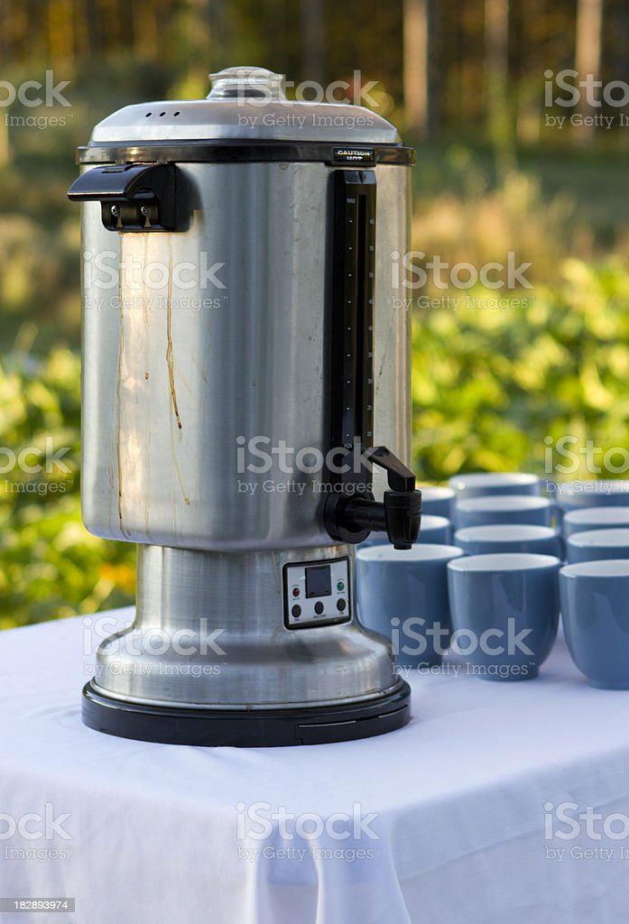 Organic Farm Coffee Break stock photo