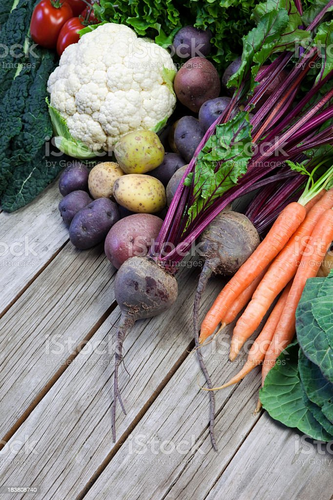Organic Farm Vegetables royalty-free stock photo