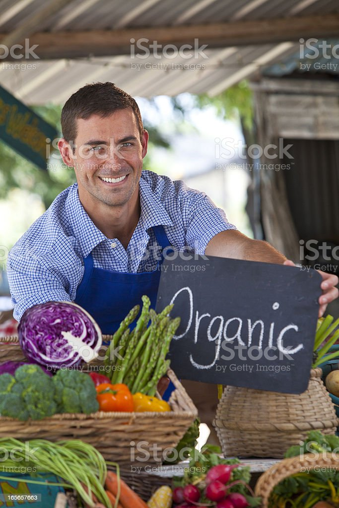 Organic Farmer royalty-free stock photo