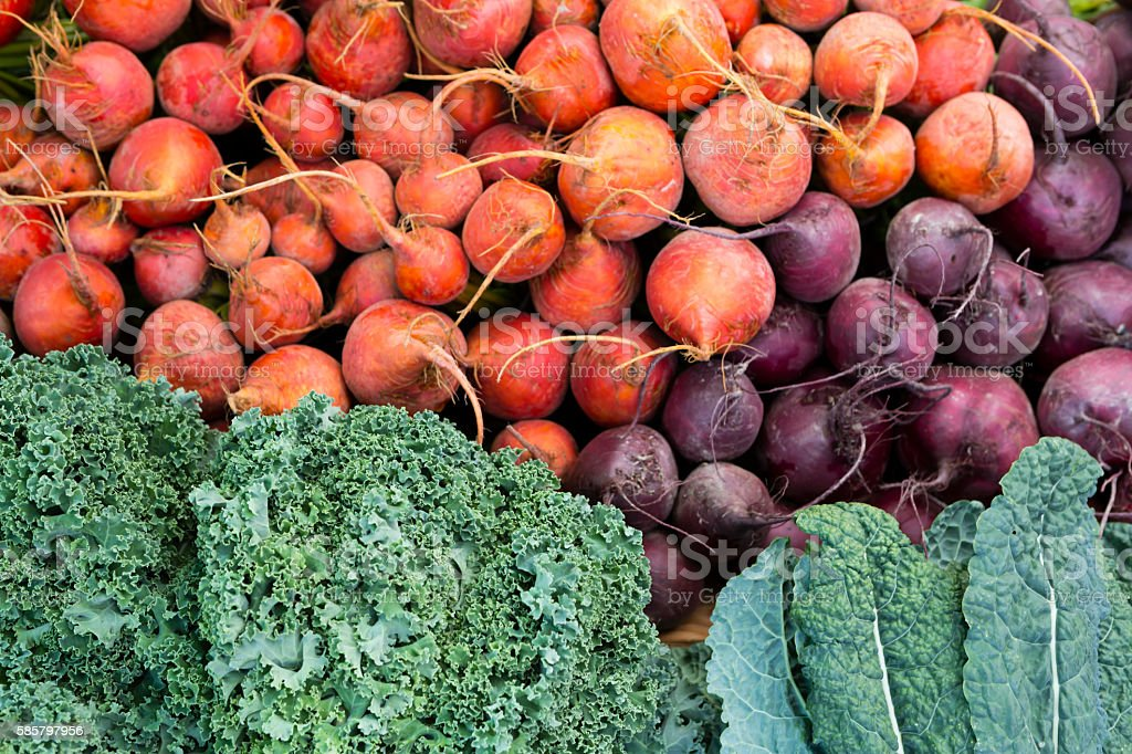 Organic Farmer's Market Vegetable Granville Island stock photo