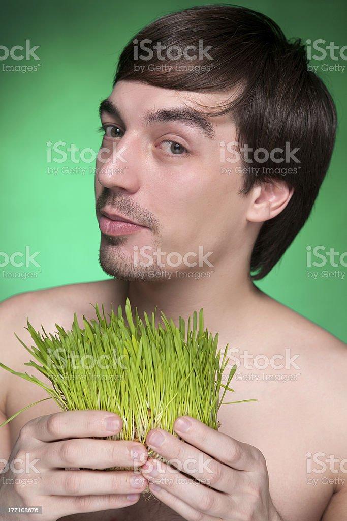 Organic food admirer royalty-free stock photo