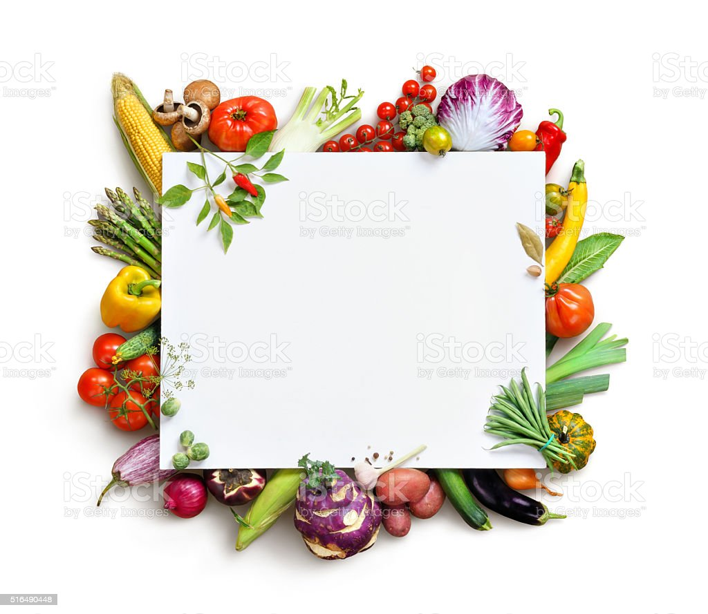 Organic food background and Copy space. stock photo