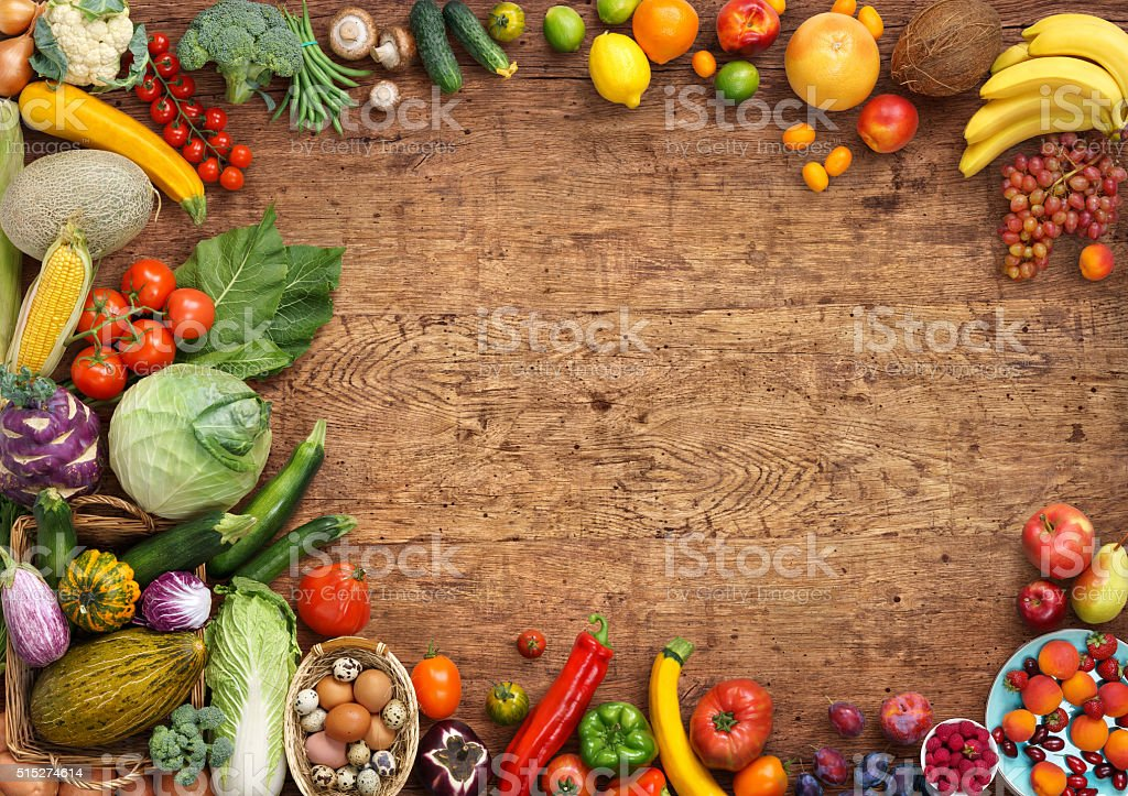 Organic food background stock photo