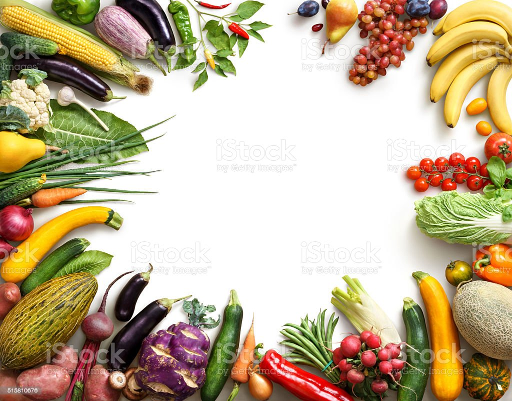 Organic food background. stock photo
