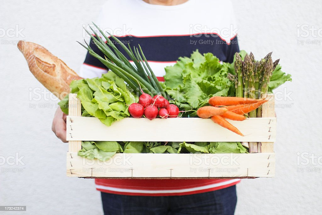 Organic Food From a Farmers Market stock photo