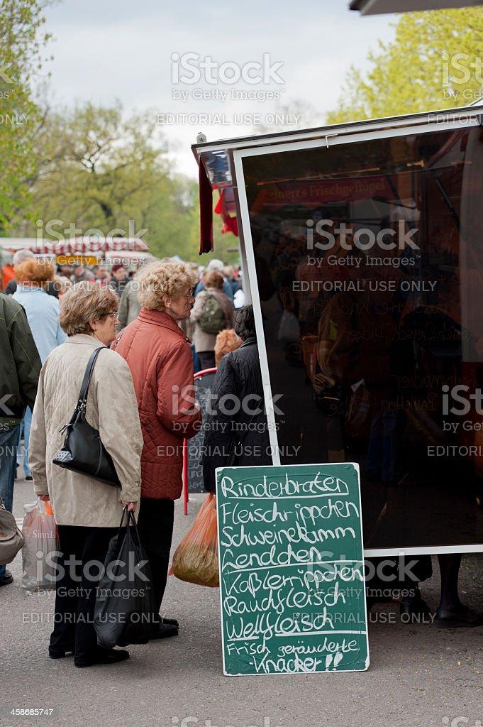 organic food market royalty-free stock photo