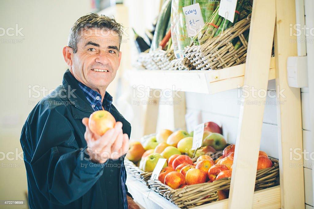 Organic food store royalty-free stock photo
