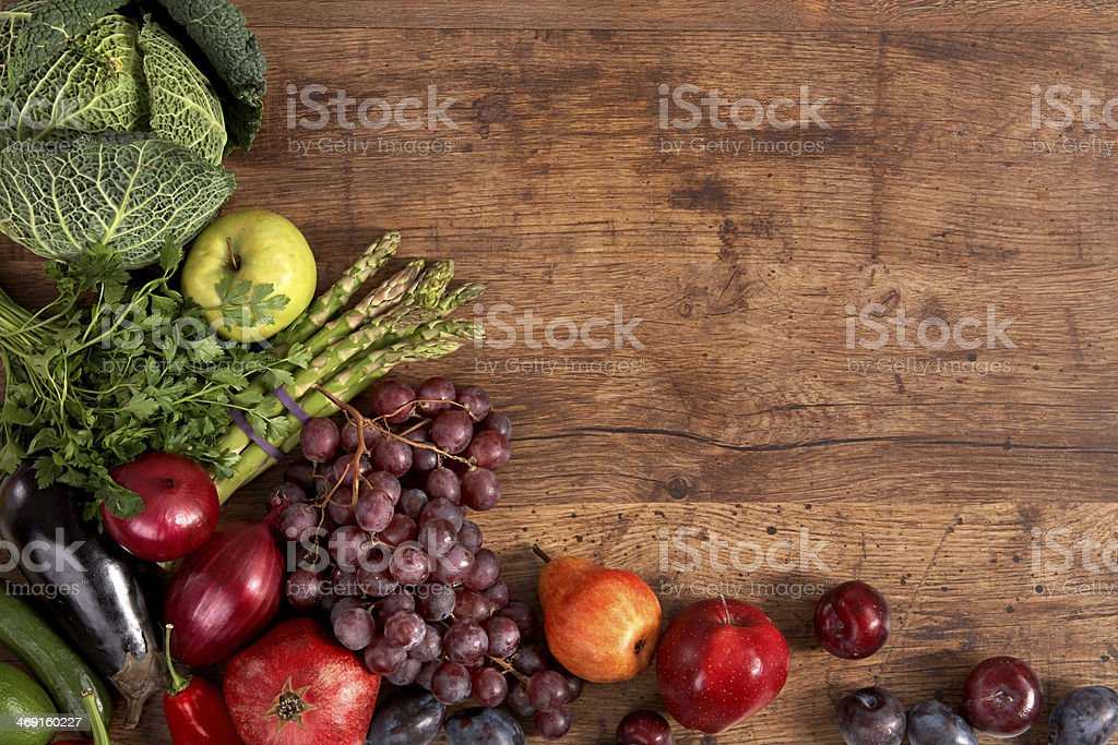 Organic foods background stock photo