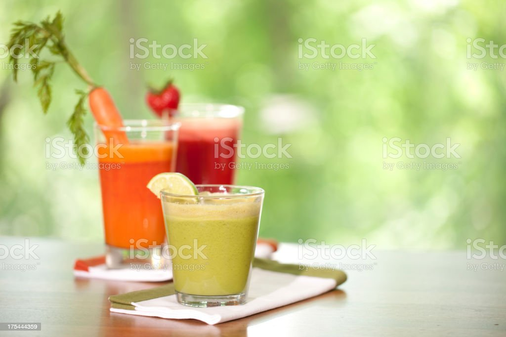 Organic Fresh Blended Juice Drink royalty-free stock photo
