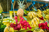 Organic Fresh Fruit Stand Selling Tropical Produce Big Island Hawaii