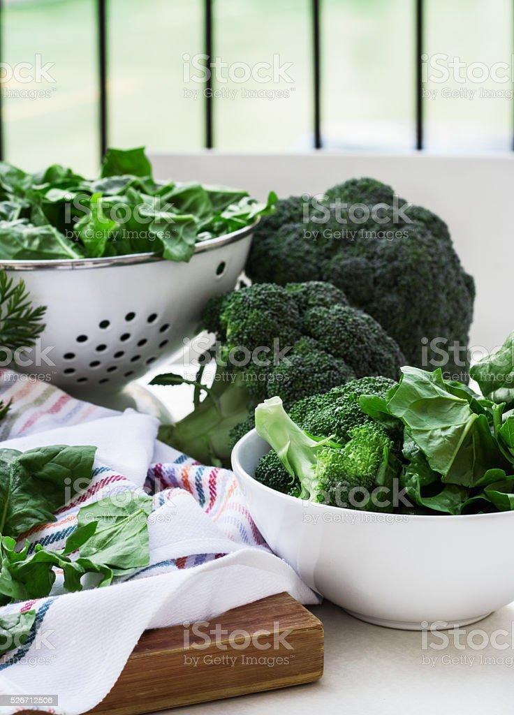 Organic fresh vegetables stock photo