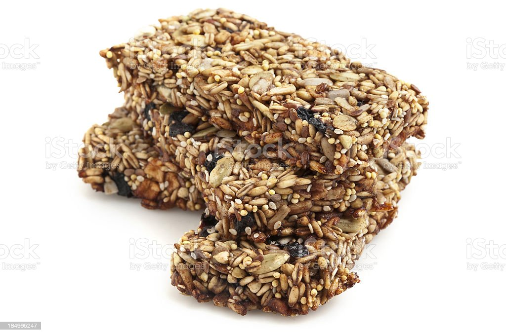 Organic Fruit and Nuts Energy Bars royalty-free stock photo