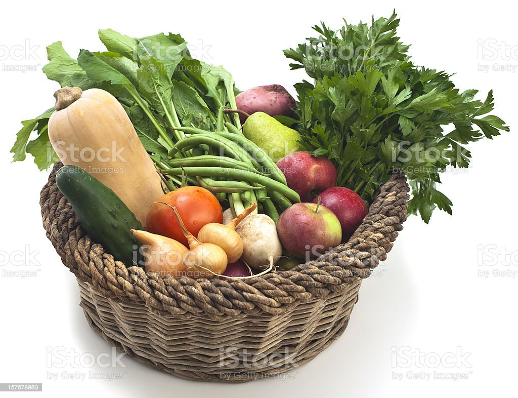 Organic Fruit and Vegetable Delivery stock photo