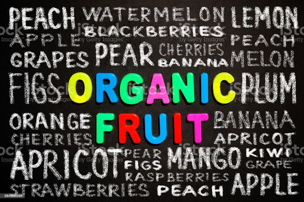 Organic fruit stock photo