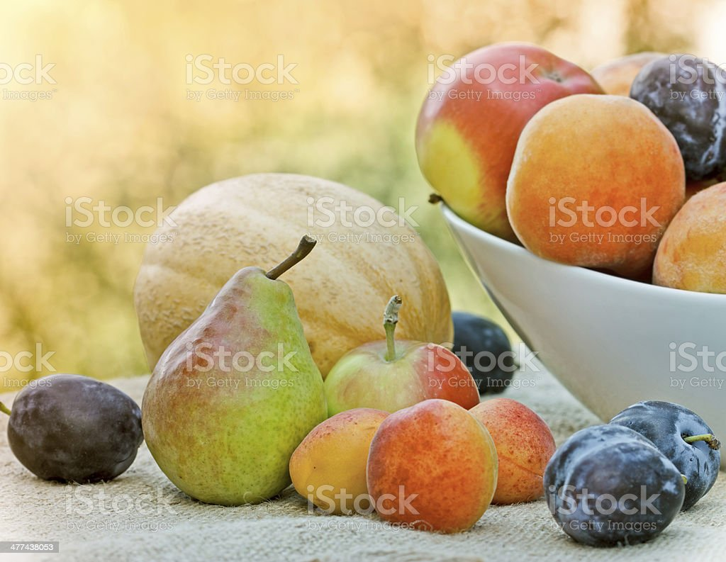 Organic fruit - vegan food royalty-free stock photo